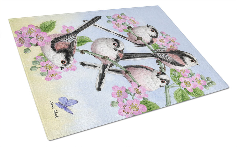 Buy this Party of 5 Long Tailed Tits Glass Cutting Board Large ASA2163LCB