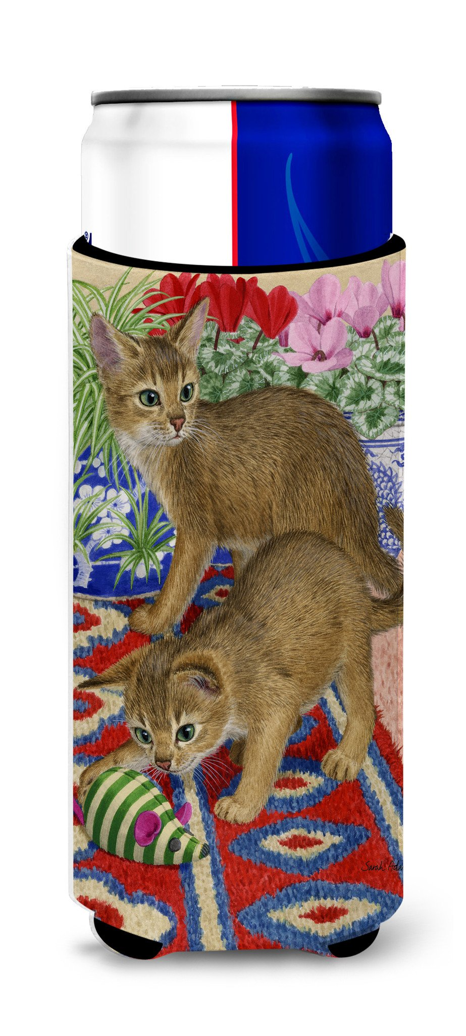 Abyssinian Kitten Ultra Beverage Insulators for slim cans ASA2164MUK - the-store.com