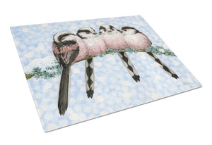 Buy this Roosting Long Tailed Tits Glass Cutting Board Large ASA2169LCB