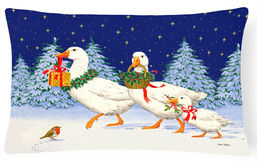 Buy this Three Geese & Gifts Fabric Decorative Pillow ASA2170PW1216