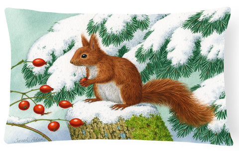 Buy this Winter Red Squirrel Fabric Decorative Pillow ASA2172PW1216