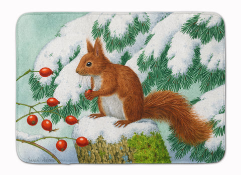 Buy this Winter Red Squirrel Machine Washable Memory Foam Mat ASA2172RUG