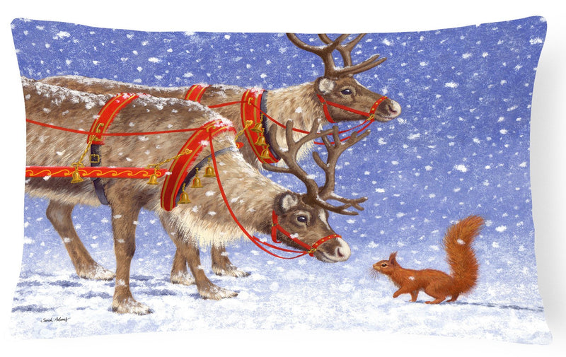 Buy this Reindeer & Squirrel Fabric Decorative Pillow ASA2173PW1216