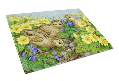 Buy this Pheasant Chicks Glass Cutting Board Large ASA2177LCB