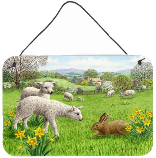 Buy this Lambs, Sheep and Rabbit Hare Wall or Door Hanging Prints