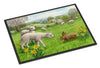 Lambs, Sheep and Rabbit Hare Indoor or Outdoor Mat 18x27 ASA2179MAT - the-store.com