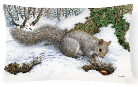 Buy this Grey Squirrel Fabric Decorative Pillow ASA2180PW1216