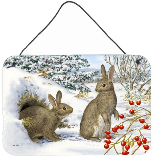 Buy this Winter Rabbits Wall or Door Hanging Prints ASA2181DS812
