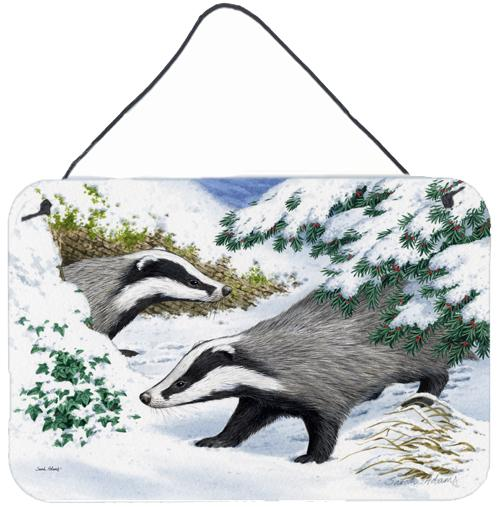 Buy this Badgers in the snow Wall or Door Hanging Prints ASA2182DS812