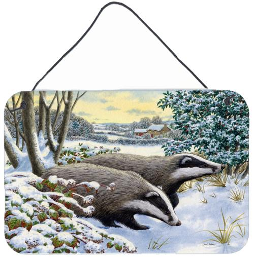 Buy this Winter Badgers Wall or Door Hanging Prints ASA2183DS812