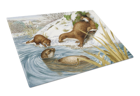 Buy this Playtime Otters Glass Cutting Board Large ASA2186LCB
