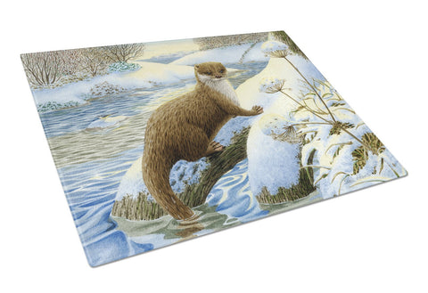 Buy this Winter Otter Glass Cutting Board Large ASA2187LCB