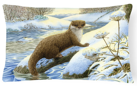 Buy this Winter Otter Fabric Decorative Pillow ASA2187PW1216