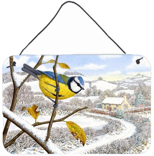 Buy this Winter Eurasian Blue Tit Wall or Door Hanging Prints ASA2188DS812
