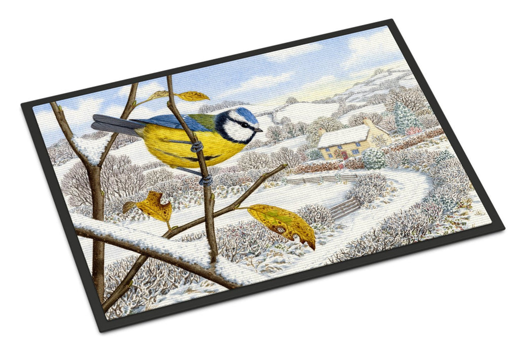 Buy this Winter Eurasian Blue Tit Indoor or Outdoor Mat 18x27 ASA2188MAT
