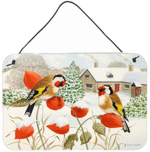 European Goldfinches Wall or Door Hanging Prints ASA2189DS812 by Caroline's Treasures