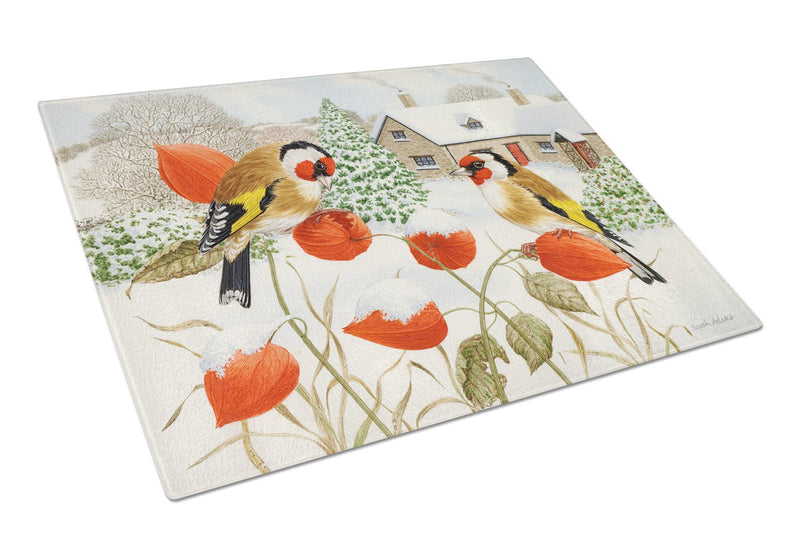 Buy this European Goldfinches Glass Cutting Board Large ASA2189LCB