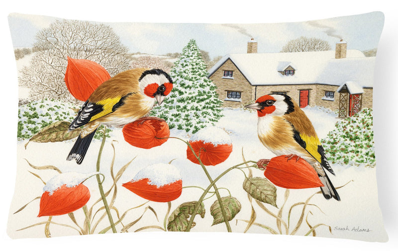 Buy this European Goldfinches Fabric Decorative Pillow ASA2189PW1216