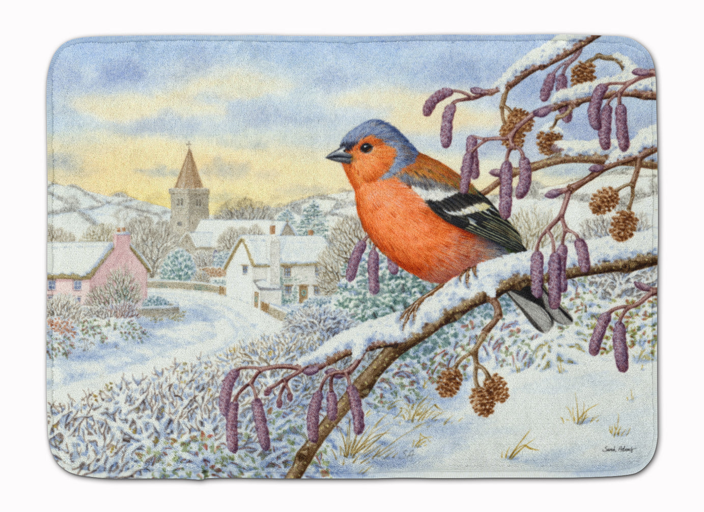 Bull Finch Machine Washable Memory Foam Mat ASA2193RUG by Caroline's Treasures