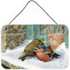 Chaffinches Wall or Door Hanging Prints ASA2194DS812 by Caroline's Treasures
