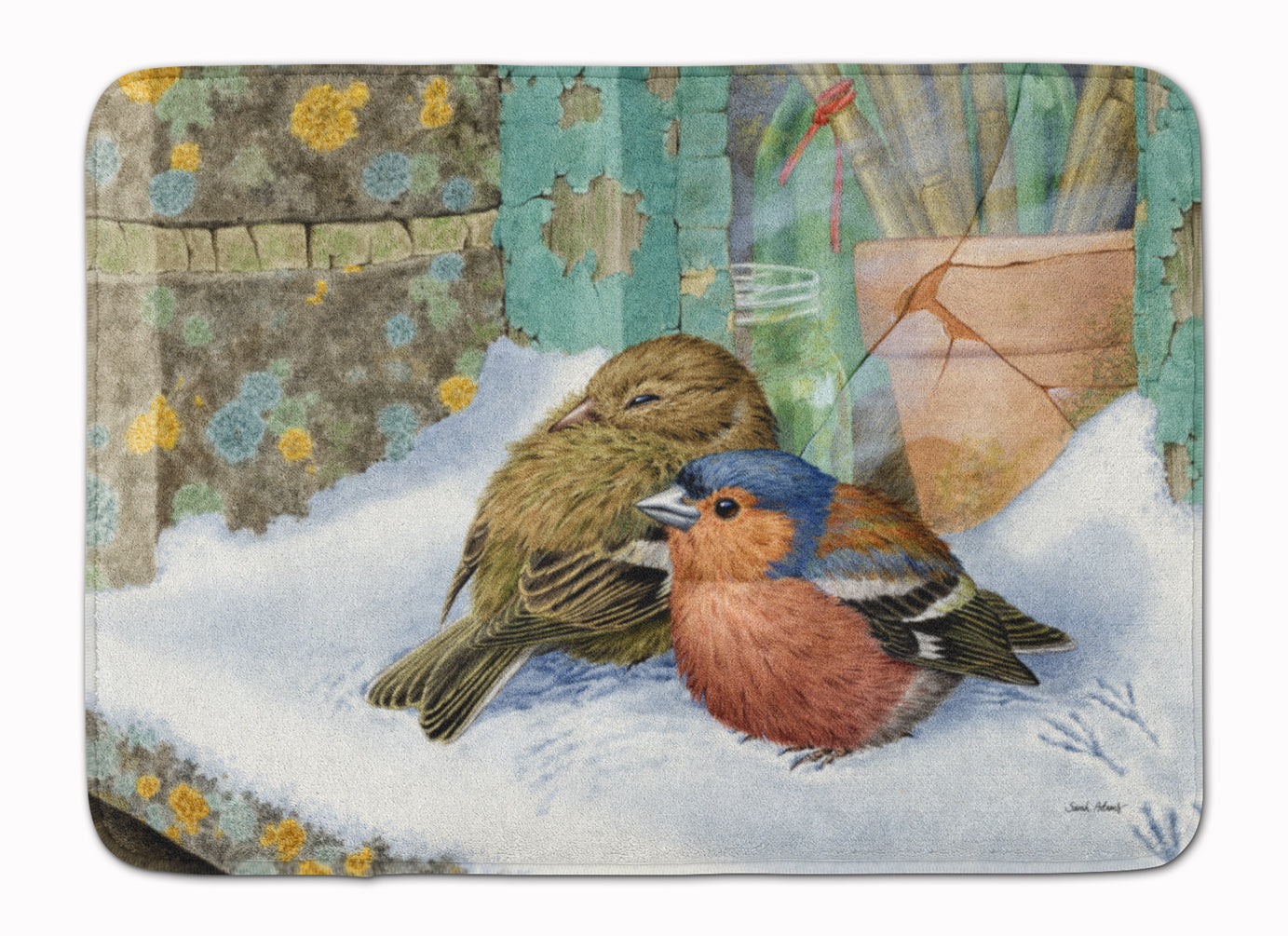 Chaffinches Machine Washable Memory Foam Mat ASA2194RUG by Caroline's Treasures