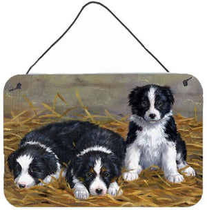 Buy this Border Collie Puppies Wall or Door Hanging Prints ASA2196DS812