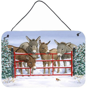 Buy this Donkeys and Robin Wall or Door Hanging Prints ASA2198DS812