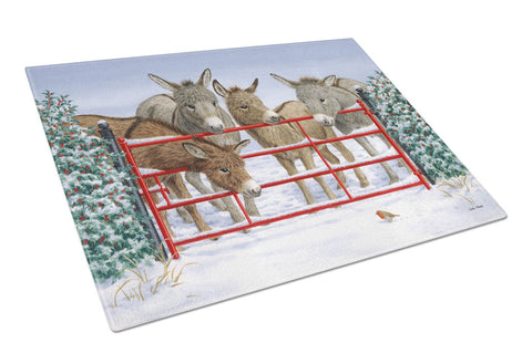 Buy this Donkeys and Robin Glass Cutting Board Large ASA2198LCB