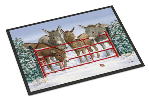 Buy this Donkeys and Robin Indoor or Outdoor Mat 18x27 ASA2198MAT