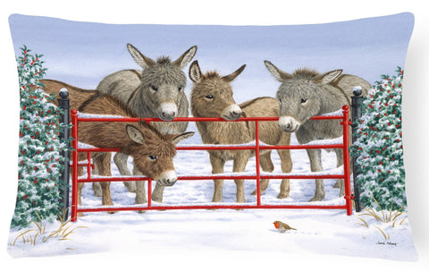 Buy this Donkeys and Robin Fabric Decorative Pillow ASA2198PW1216