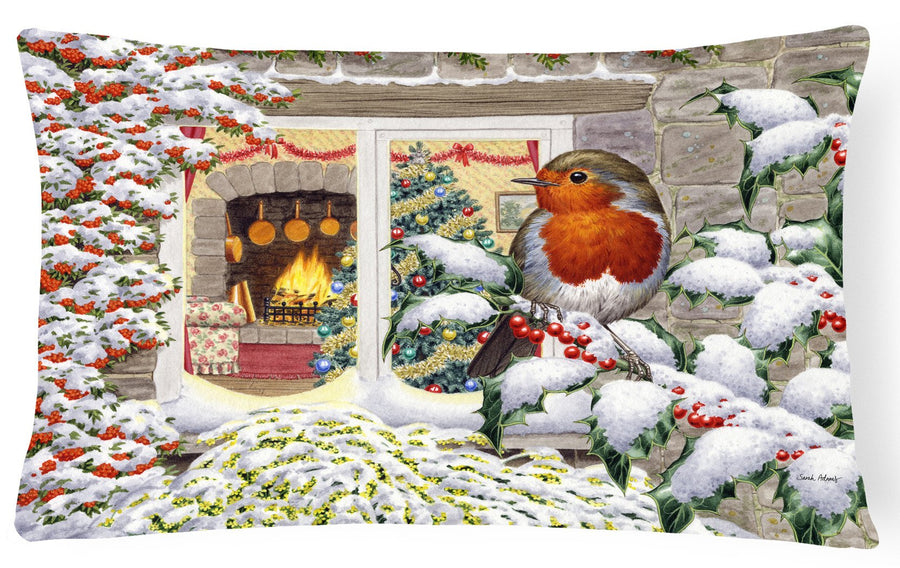 Buy this European Robin Fabric Decorative Pillow ASA2199PW1216