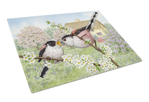 Buy this Long Tailed Tits Glass Cutting Board Large ASA2200LCB