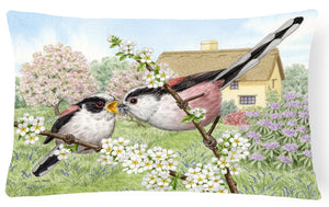 Buy this Long Tailed Tits Fabric Decorative Pillow ASA2200PW1216