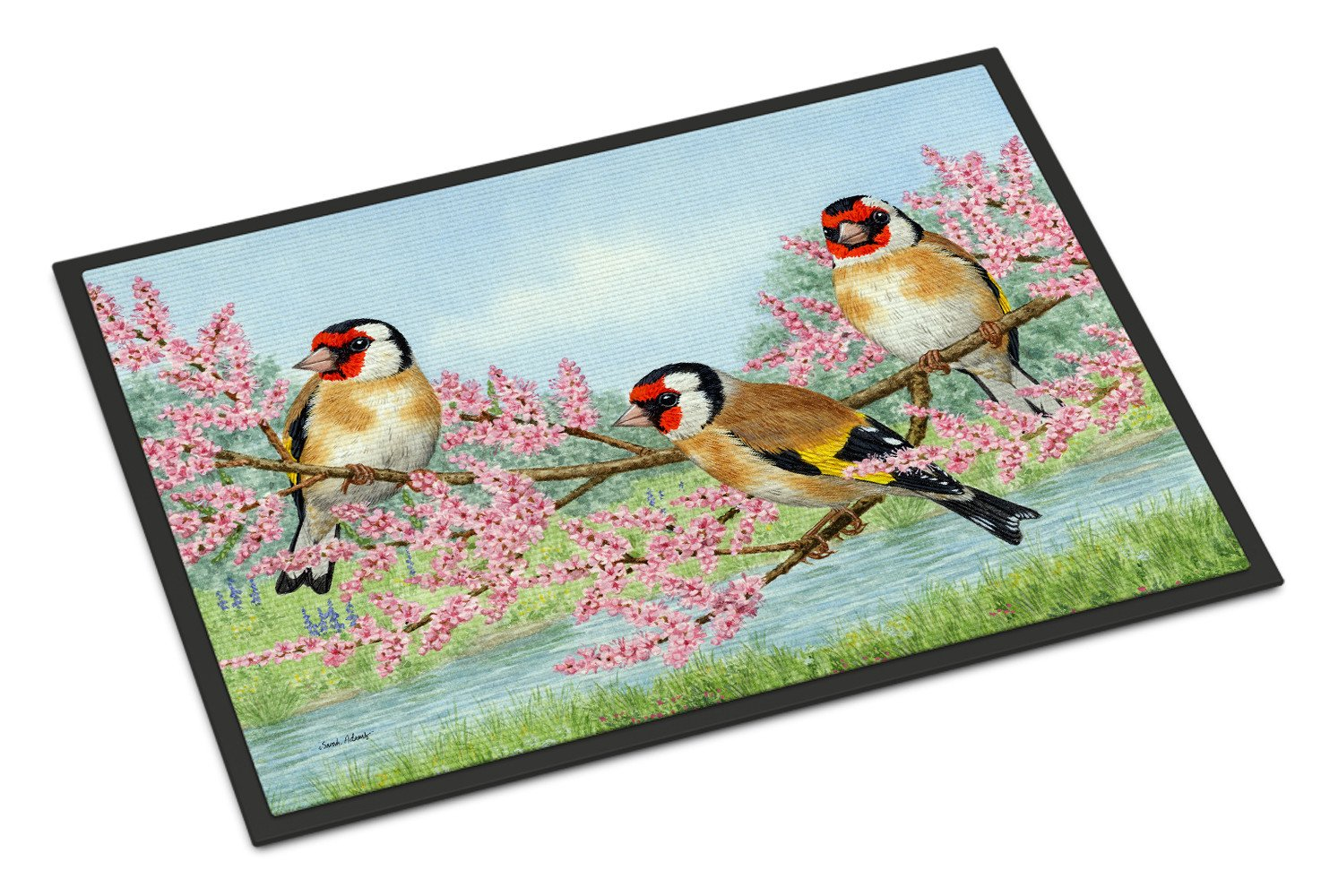 European Goldfinch Indoor or Outdoor Mat 24x36 ASA2202JMAT - the-store.com