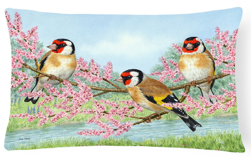 European Goldfinch Fabric Decorative Pillow ASA2202PW1216 by Caroline's Treasures
