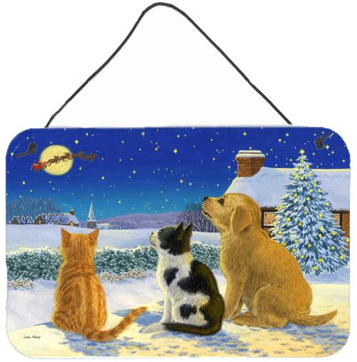 Buy this Golden Retriever and kittens Watching Santa Wall or Door Hanging Prints ASA2208DS812