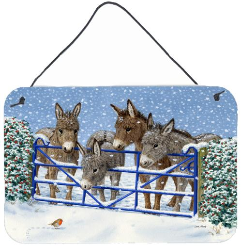Buy this Donkeys and Robin at the Fence Wall or Door Hanging Prints ASA2210DS812