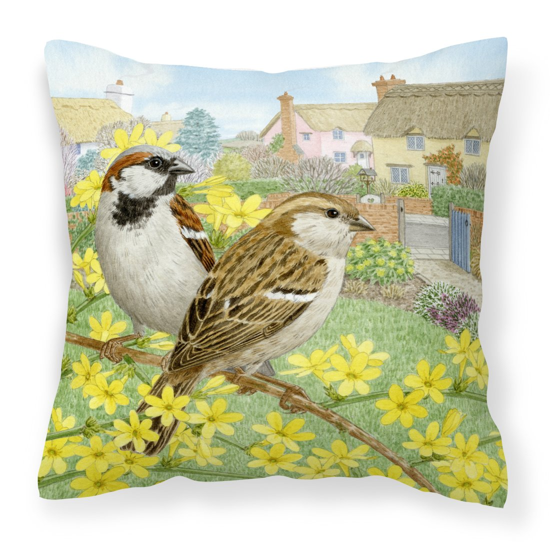 Buy this House Sparrows by Sarah Adams Canvas Decorative Pillow