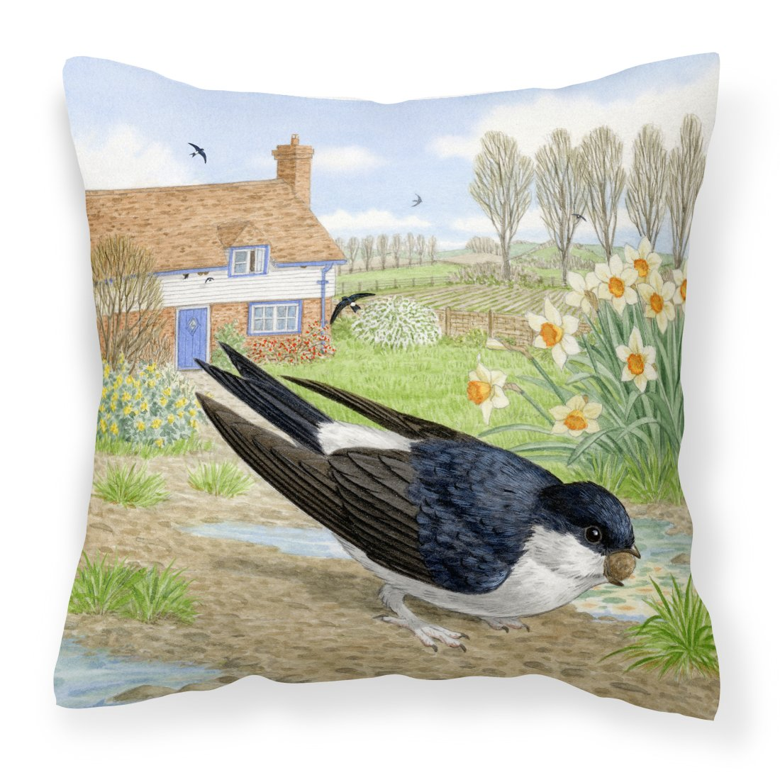 Buy this House Martin by Sarah Adams Canvas Decorative Pillow
