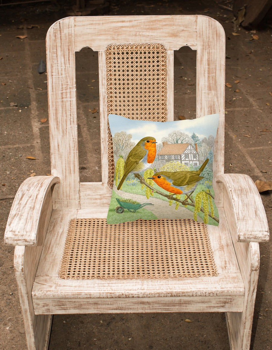 Buy this European Robin by Sarah Adams Canvas Decorative Pillow ASAD0684PW1414