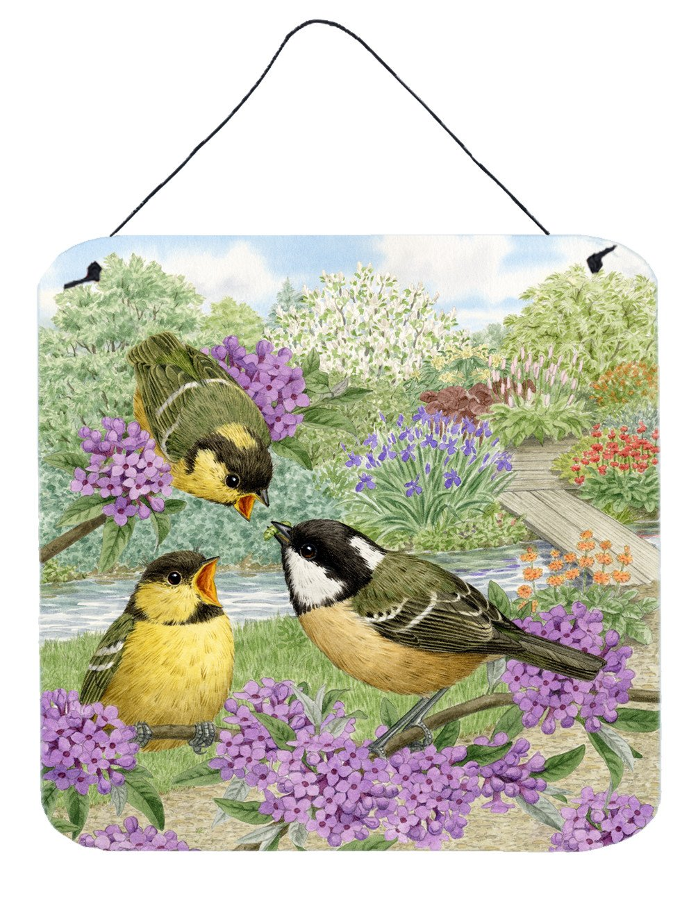 Coal Tits Feeding Time Wall or Door Hanging Prints ASAD0686DS66 by Caroline's Treasures