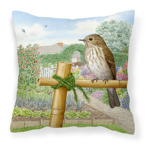 Buy this Spotted Flycatcher by Sarah Adams Canvas Decorative Pillow