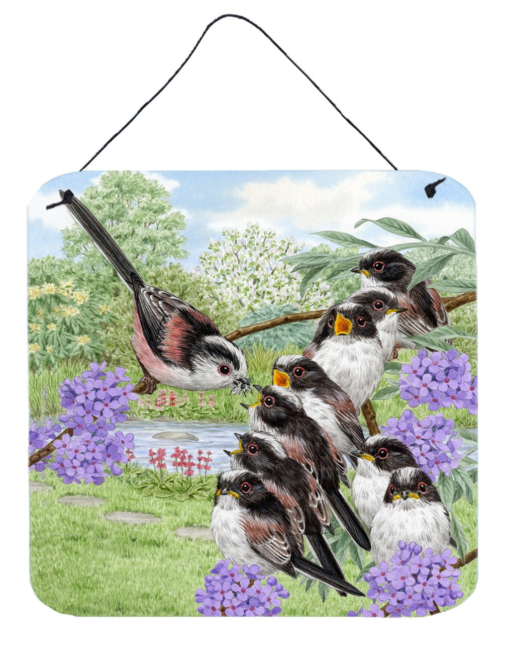 Long Tailed Tits by Sarah Adams Wall or Door Hanging Prints ASAD0690DS66 by Caroline's Treasures