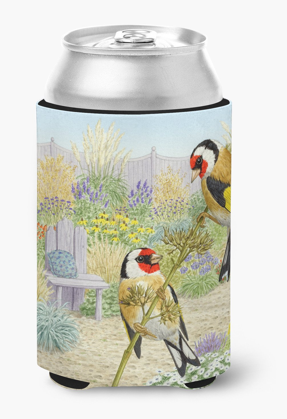European Goldfinches by Sarah Adams Can or Bottle Hugger ASAD0691CC by Caroline's Treasures