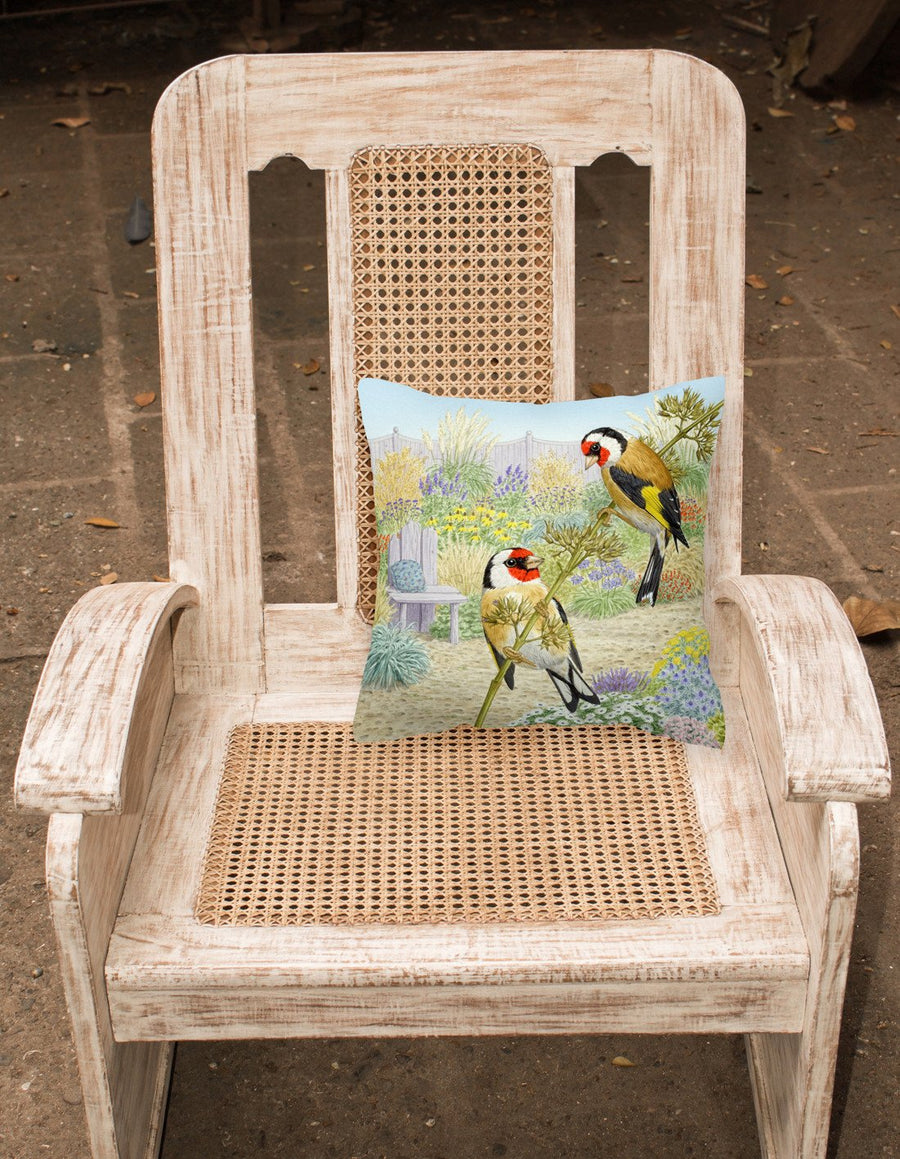 Buy this European Goldfinches by Sarah Adams Canvas Decorative Pillow ASAD0691PW1414