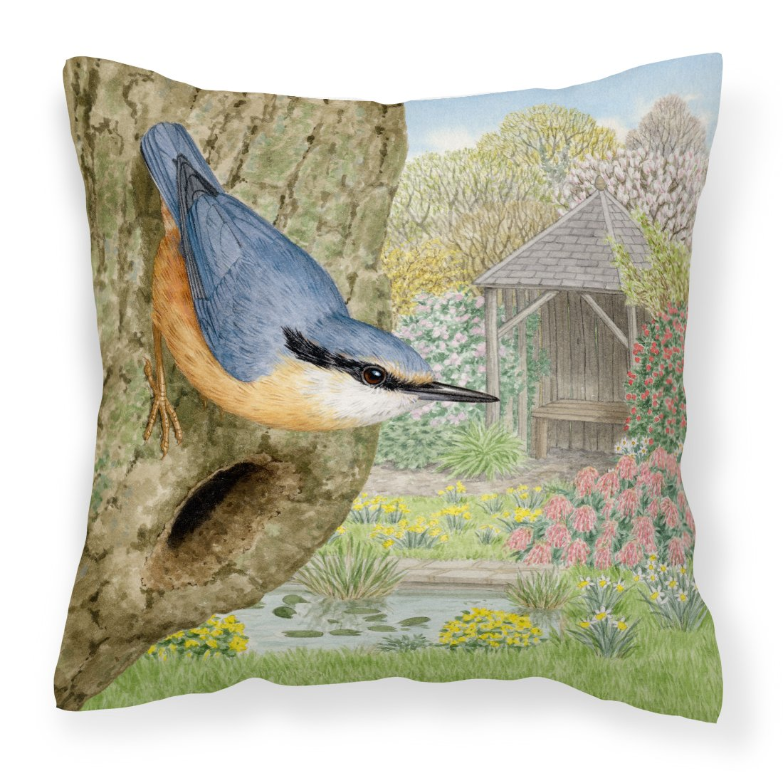 Buy this Nuthatch by Sarah Adams Canvas Decorative Pillow