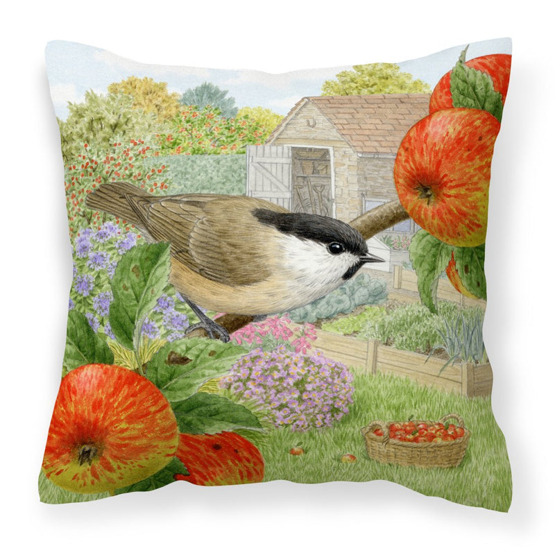 Buy this Coal Tits Apple Picker Canvas Decorative Pillow