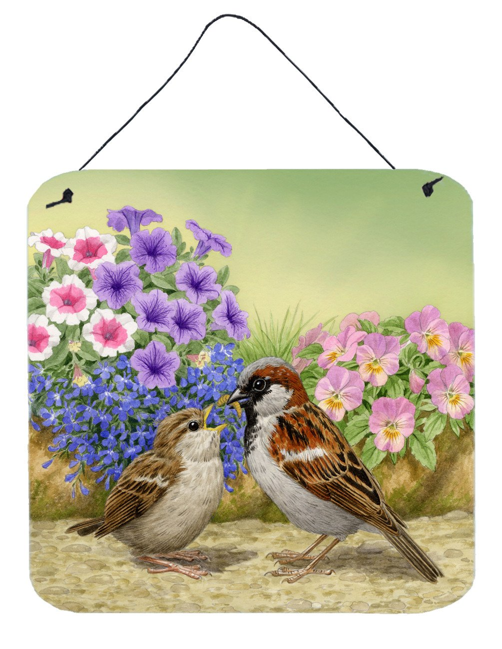Buy this House Sparrows Feeding Time Wall or Door Hanging Prints ASAD0700DS66