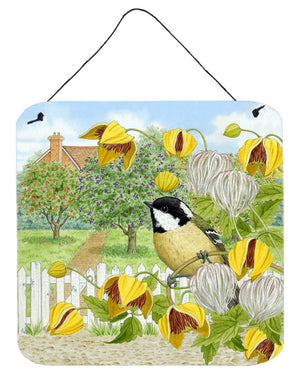 Coal Tits Yellow Flowers Wall or Door Hanging Prints ASAD0702DS66 - the-store.com