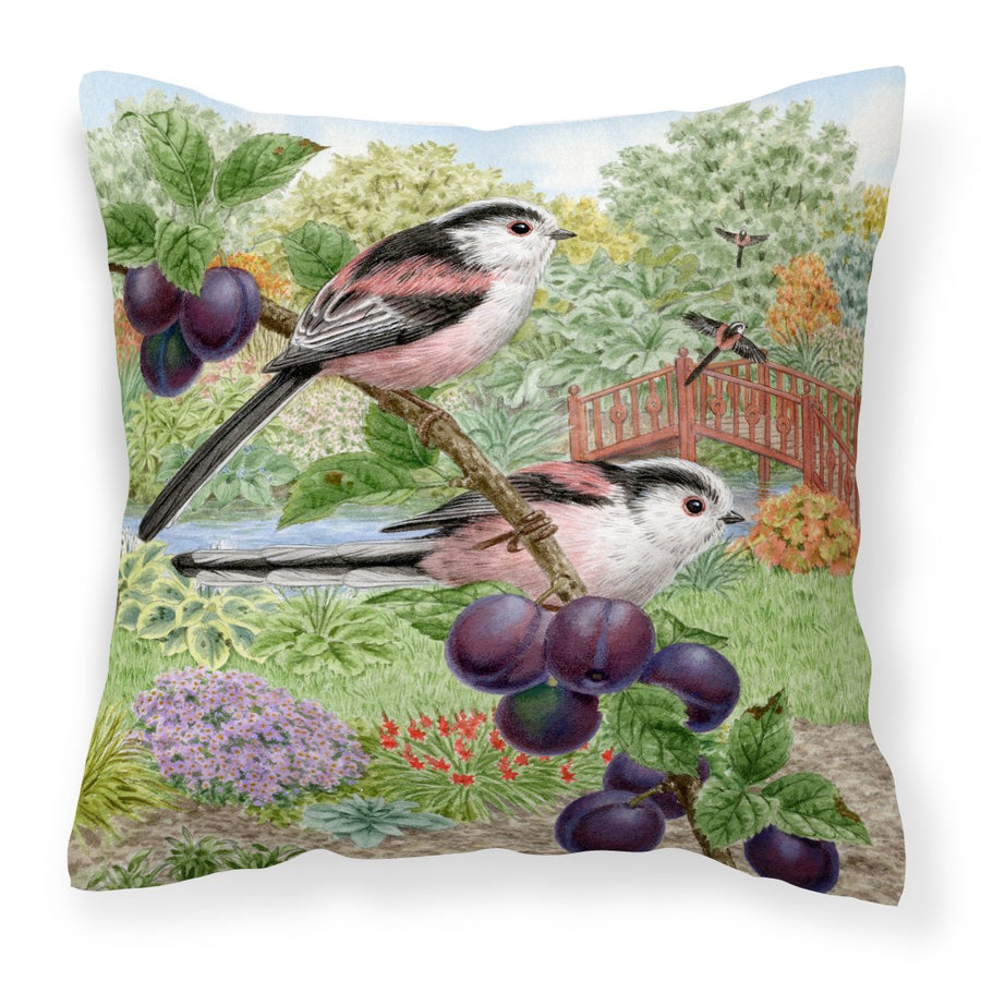 Buy this Long Tailed Tits by Sarah Adams Canvas Decorative Pillow